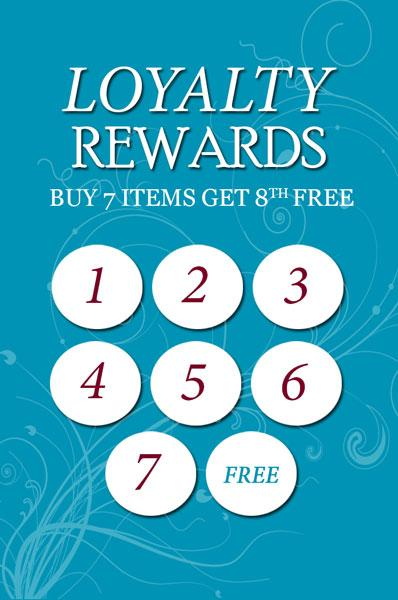 Loyalty Cards (Blue) 100 + 100 FREE