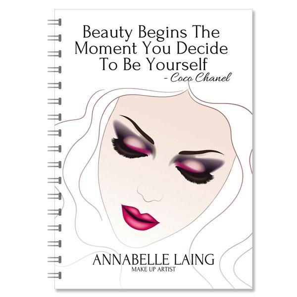 MakeUp Artist Personalised Notebook (NB-MUA-04)
