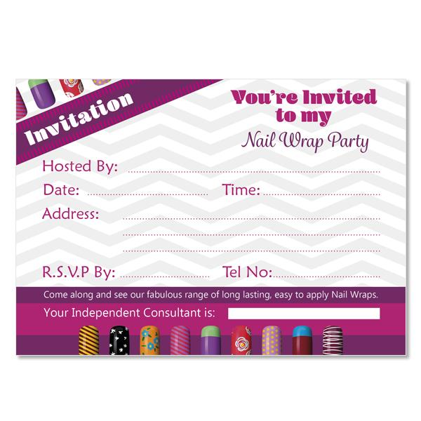 Nail Wrap Party Invitations