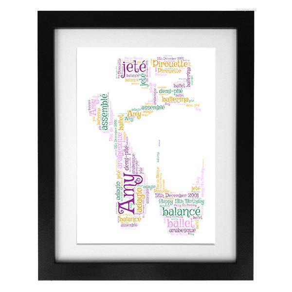 Word Art Print - Ballet Shoes (1)