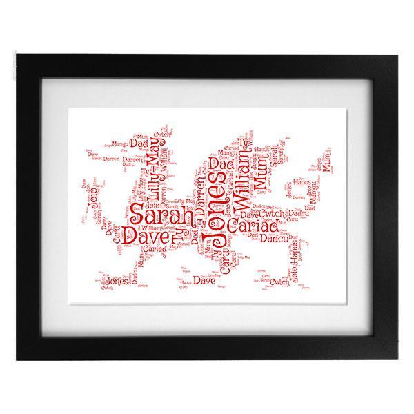 Word Art Print - Red Dragon