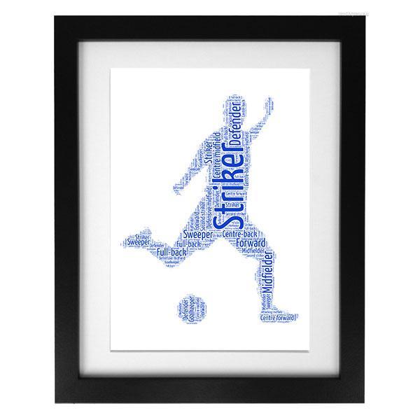 Word Art Print - Footballer