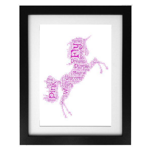Word Art Print - Unicorn