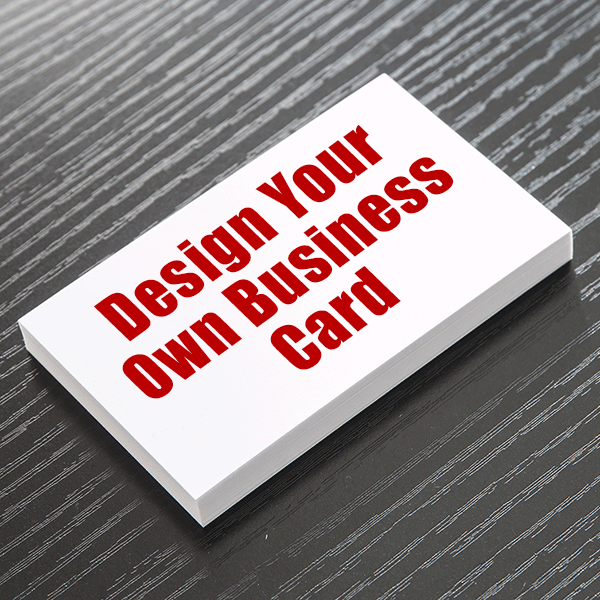 Business Card - Design Your Own  - Double Sided - Portrait