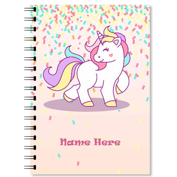 Personalised Unicorn Notebook (1)