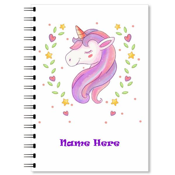 Personalised Unicorn Notebook (4)